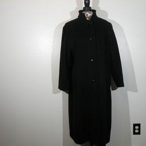 Vintage Jacqueline Ferrar 100% Wool Trench Coat 12